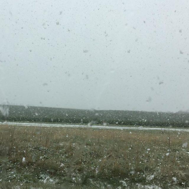 P vej til foredrag i Bjerringbro i f snestorm !hellip