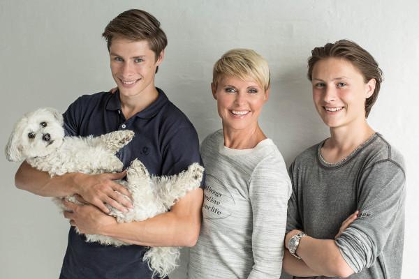 Line Baun Danielen med familie